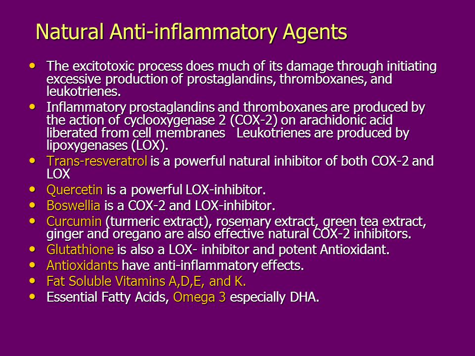 Natural Anti-inflammatory Agents