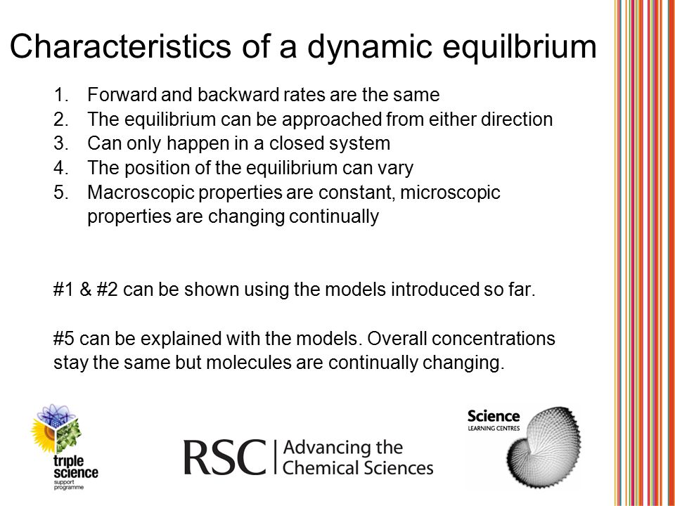 Characteristics of a dynamic equilbrium
