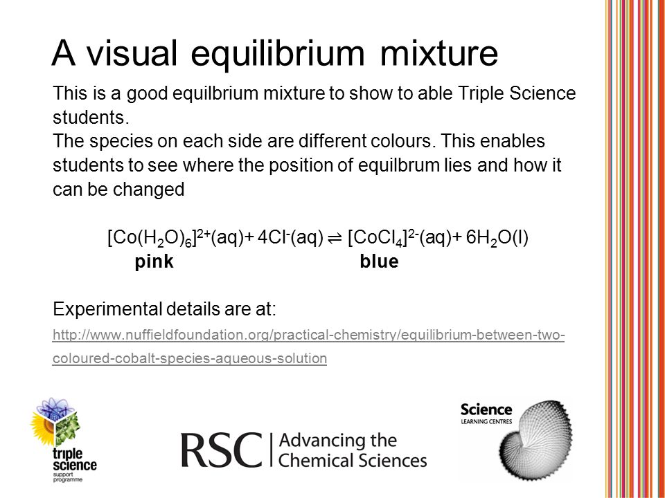 A visual equilibrium mixture
