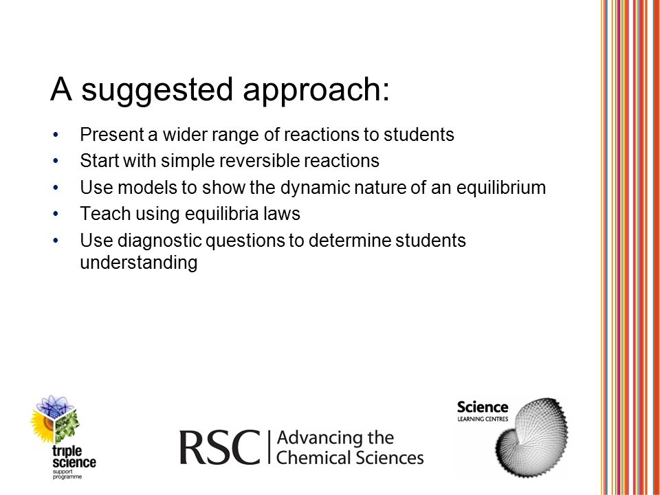 A suggested approach: Present a wider range of reactions to students