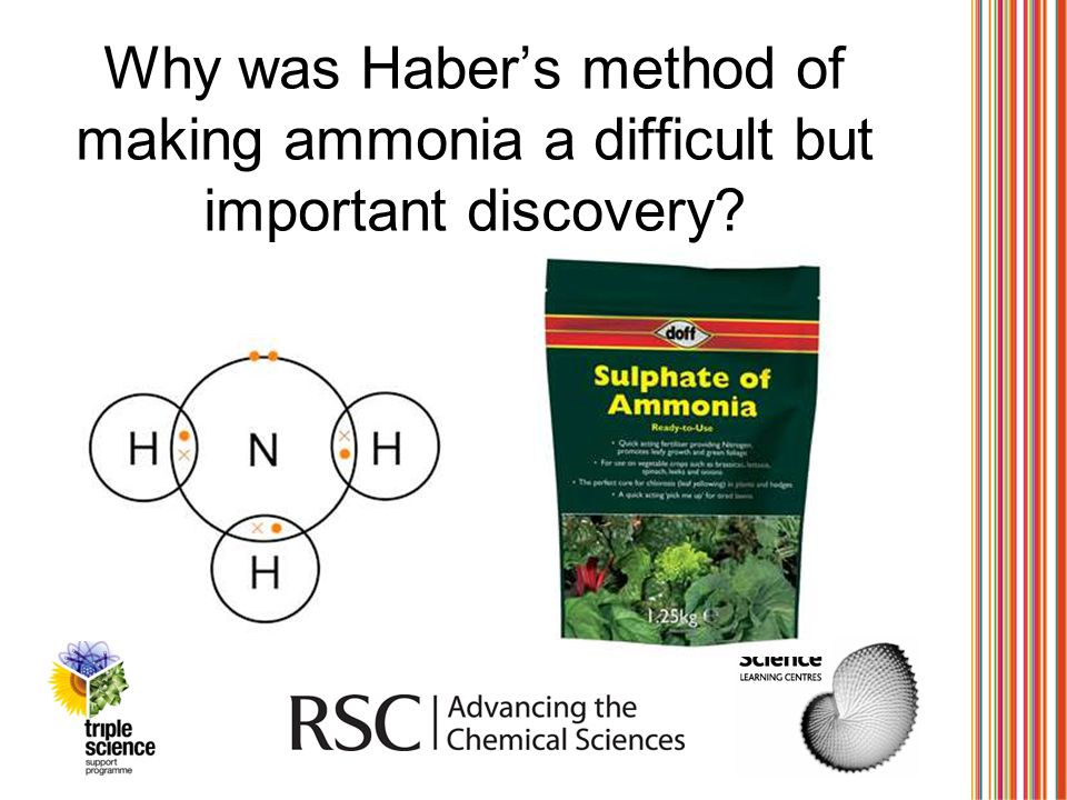 Why was Haber's method of making ammonia a difficult but important discovery