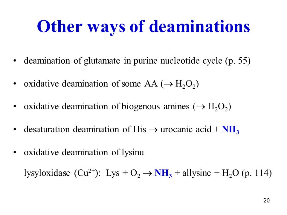 Other ways of deaminations