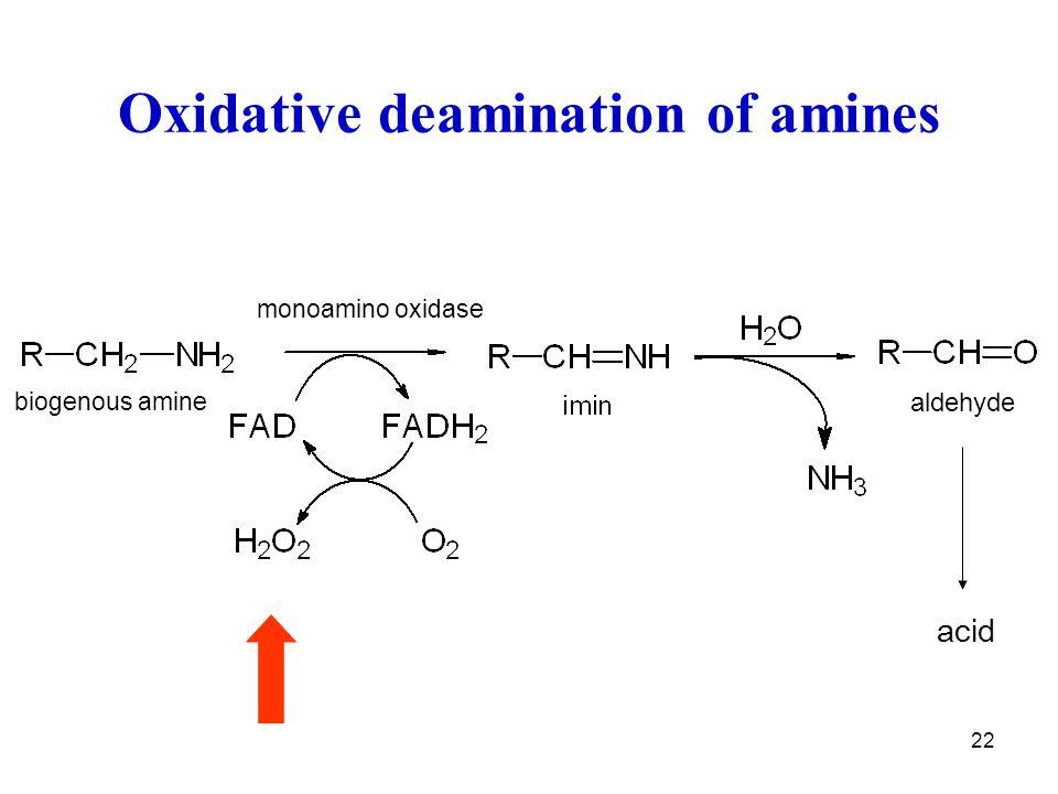 Oxidative deamination of amines