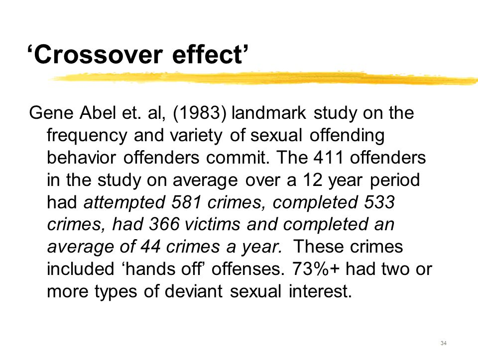 'Crossover effect'