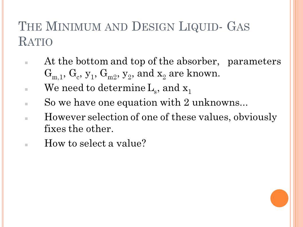 The Minimum and Design Liquid- Gas Ratio