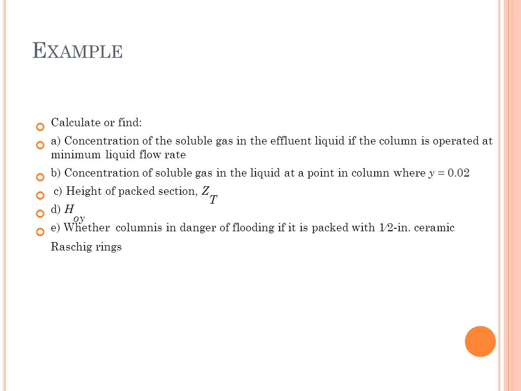 Example Calculate or find: