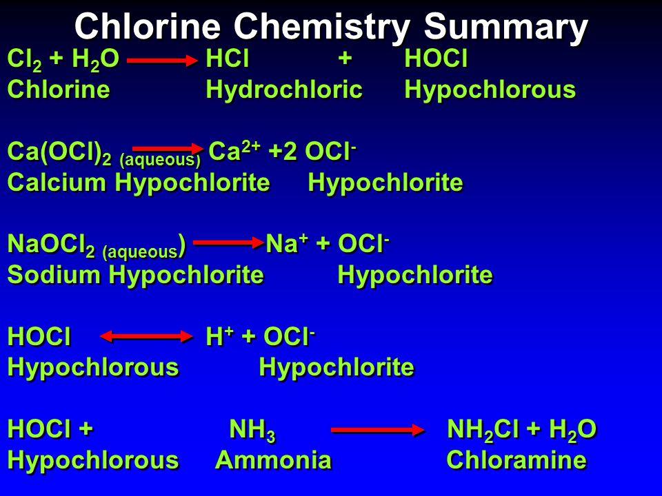 Chlorine Chemistry Summary
