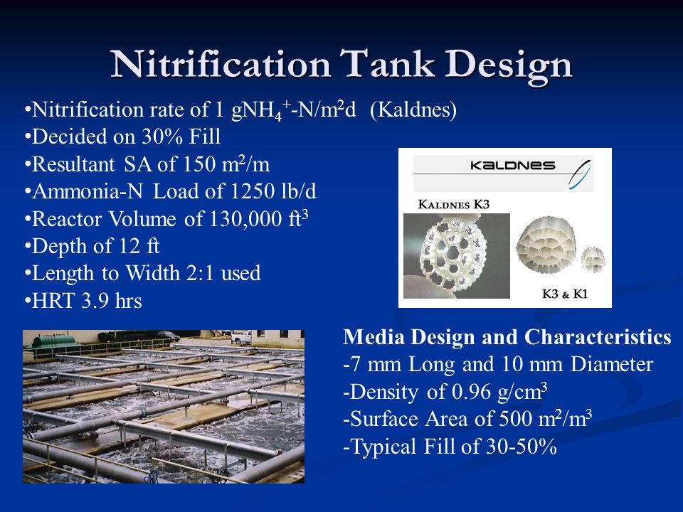 Nitrification Tank Design