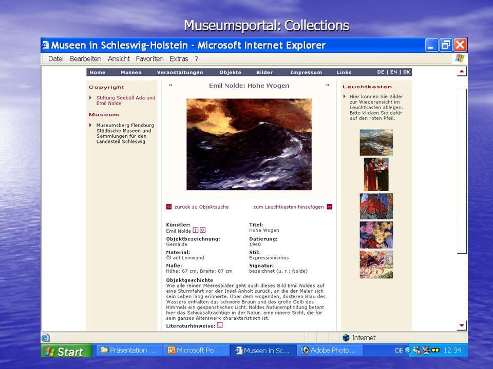 Museumsportal: Collections