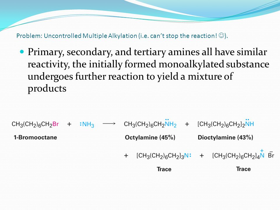 Problem: Uncontrolled Multiple Alkylation (i. e