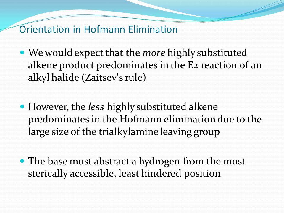Orientation in Hofmann Elimination