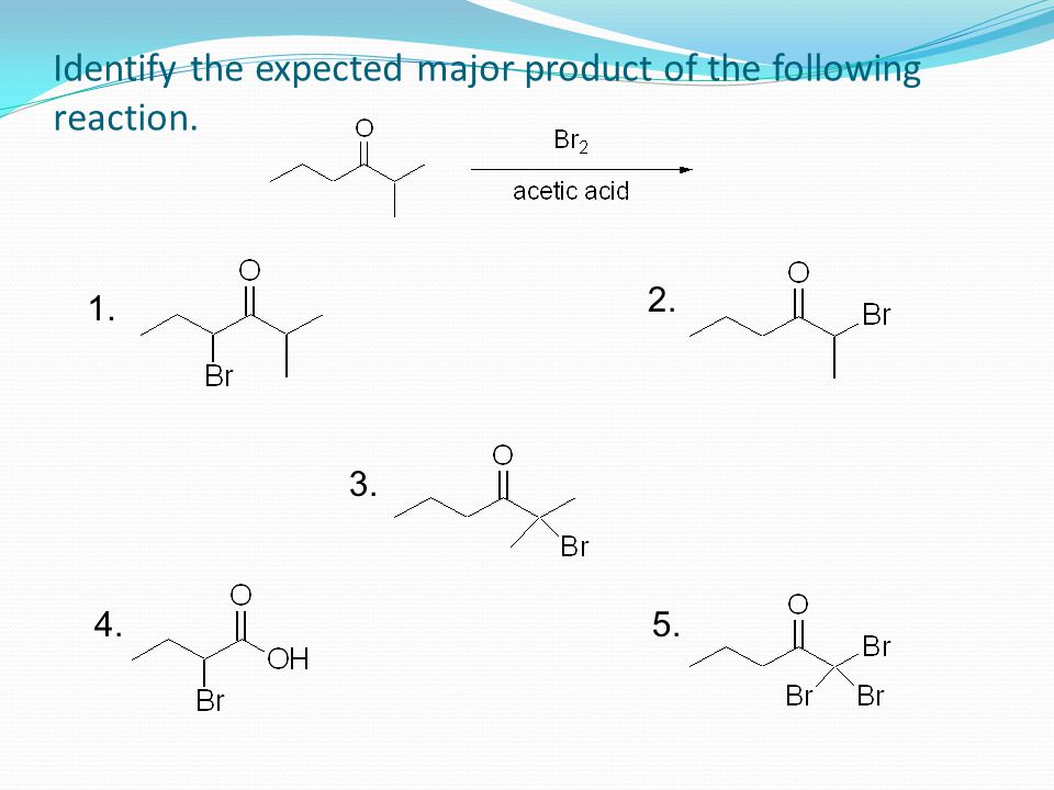 Identify the expected major product of the following reaction.