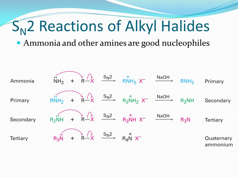 SN2 Reactions of Alkyl Halides