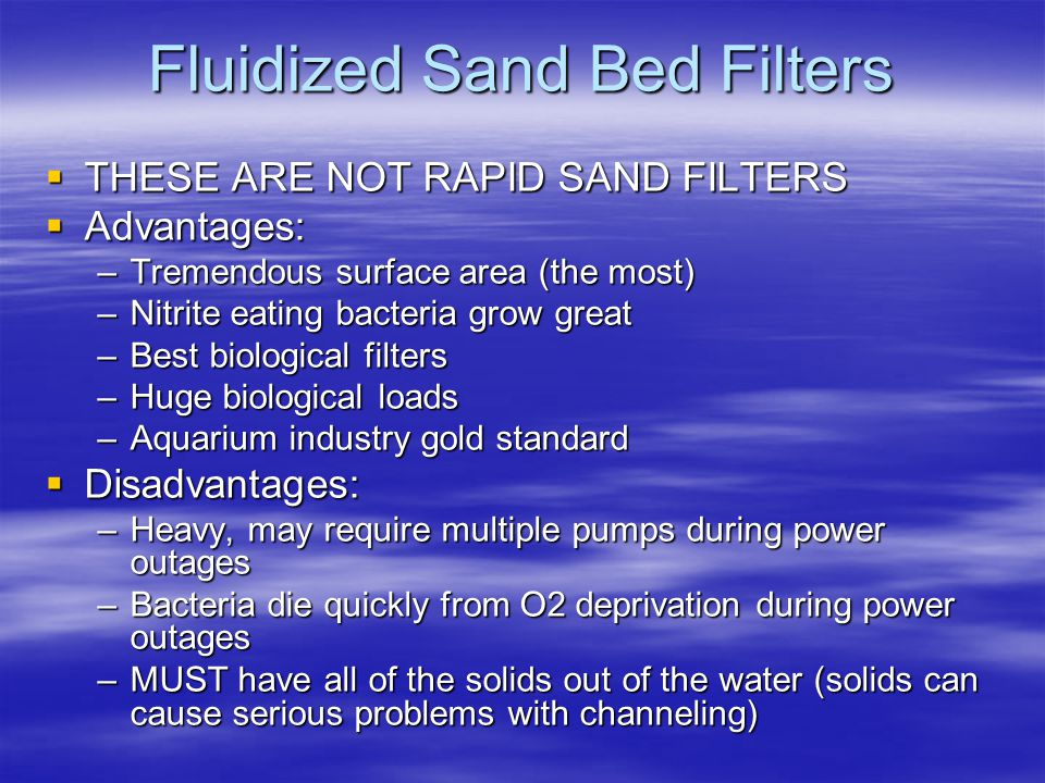 Fluidized Sand Bed Filters