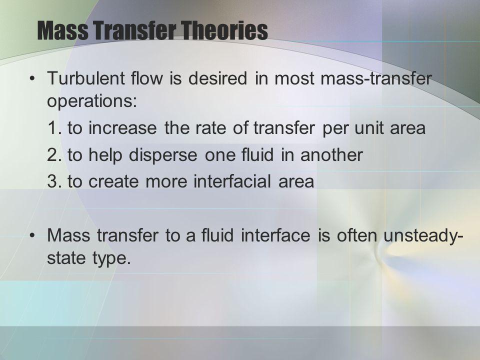 Mass Transfer Theories