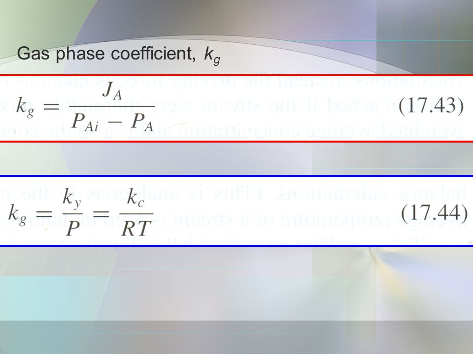Gas phase coefficient, kg