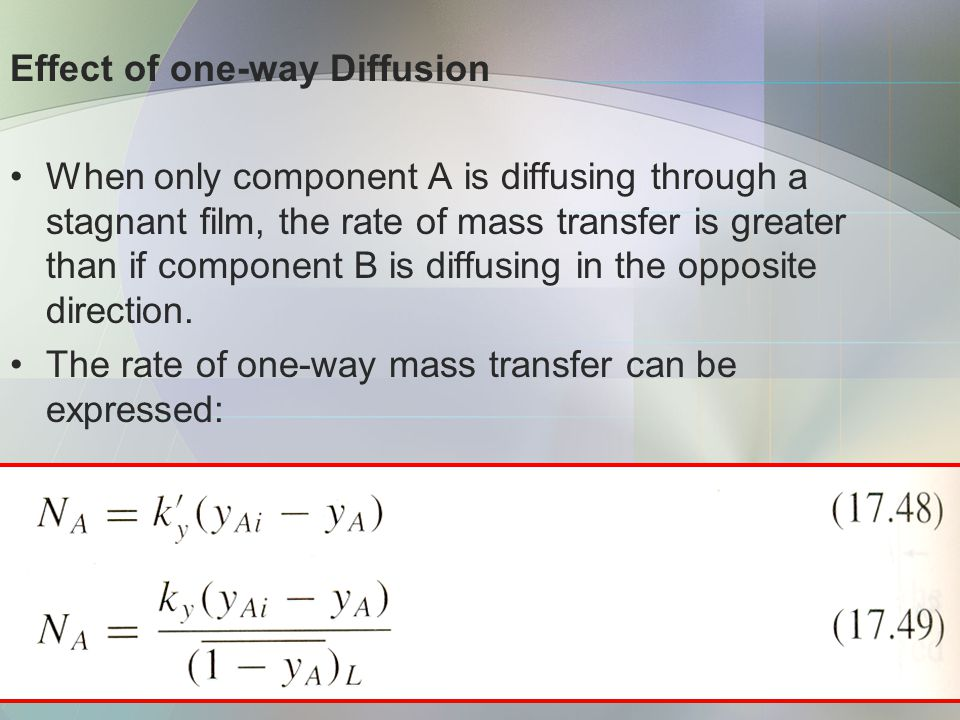 Effect of one-way Diffusion