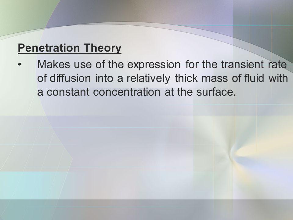 Penetration Theory