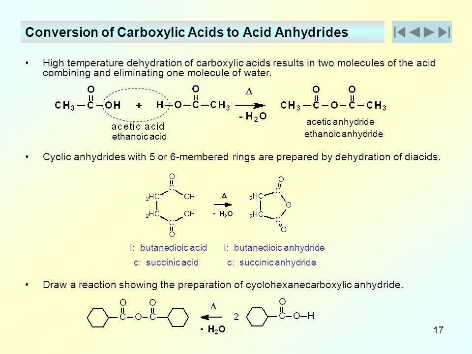 Conversion of Carboxylic Acids to Acid Anhydrides