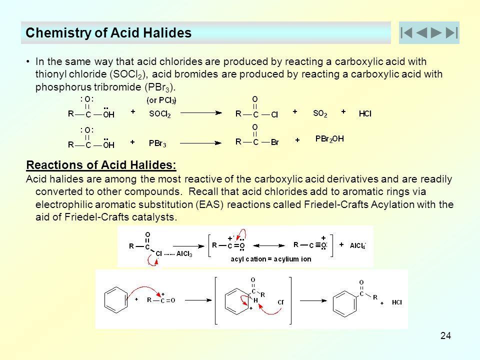 Chemistry of Acid Halides