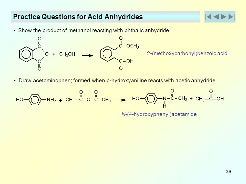 Practice Questions for Acid Anhydrides