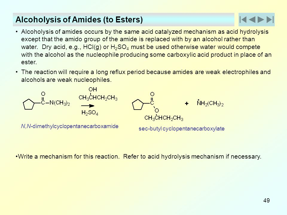 Alcoholysis of Amides (to Esters)