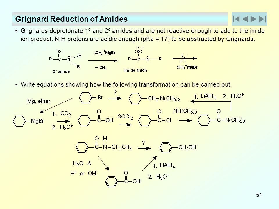Grignard Reduction of Amides
