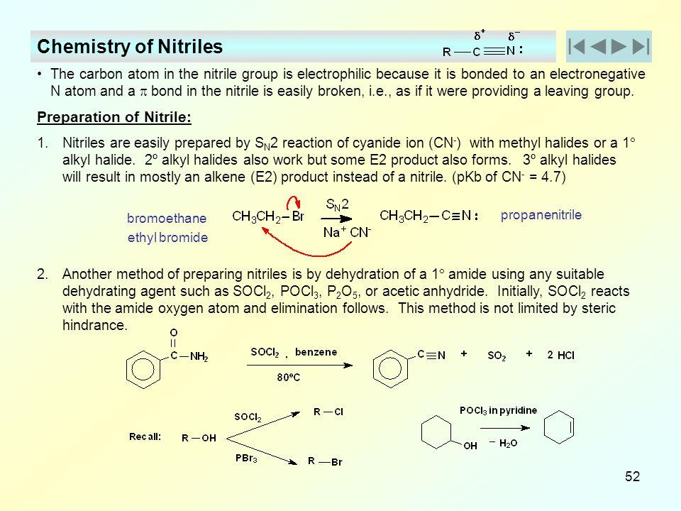 Chemistry of Nitriles Preparation of Nitrile: