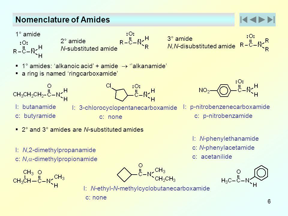 Nomenclature of Amides
