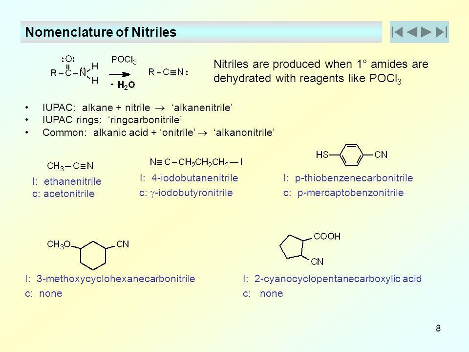 Nomenclature of Nitriles