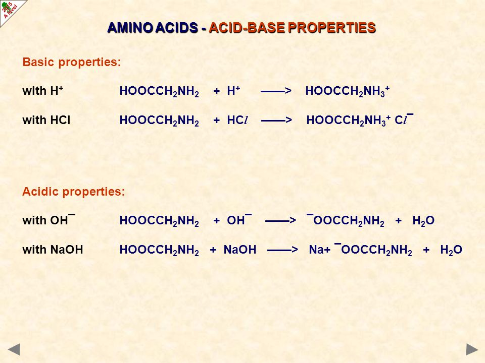 AMINO ACIDS - ACID-BASE PROPERTIES