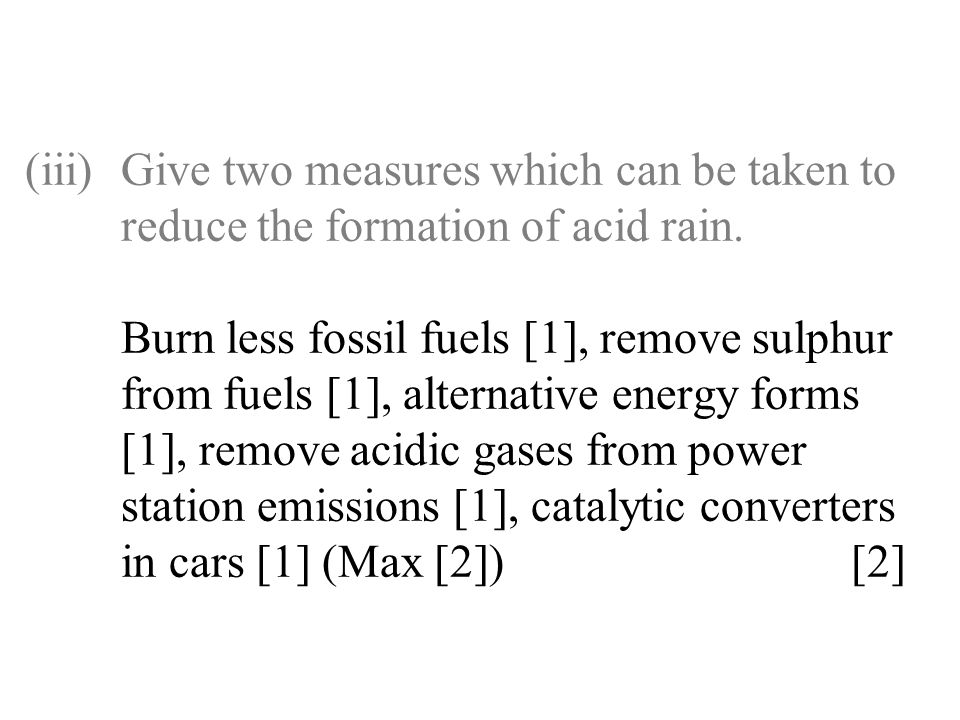 (iii). Give two measures which can be taken to