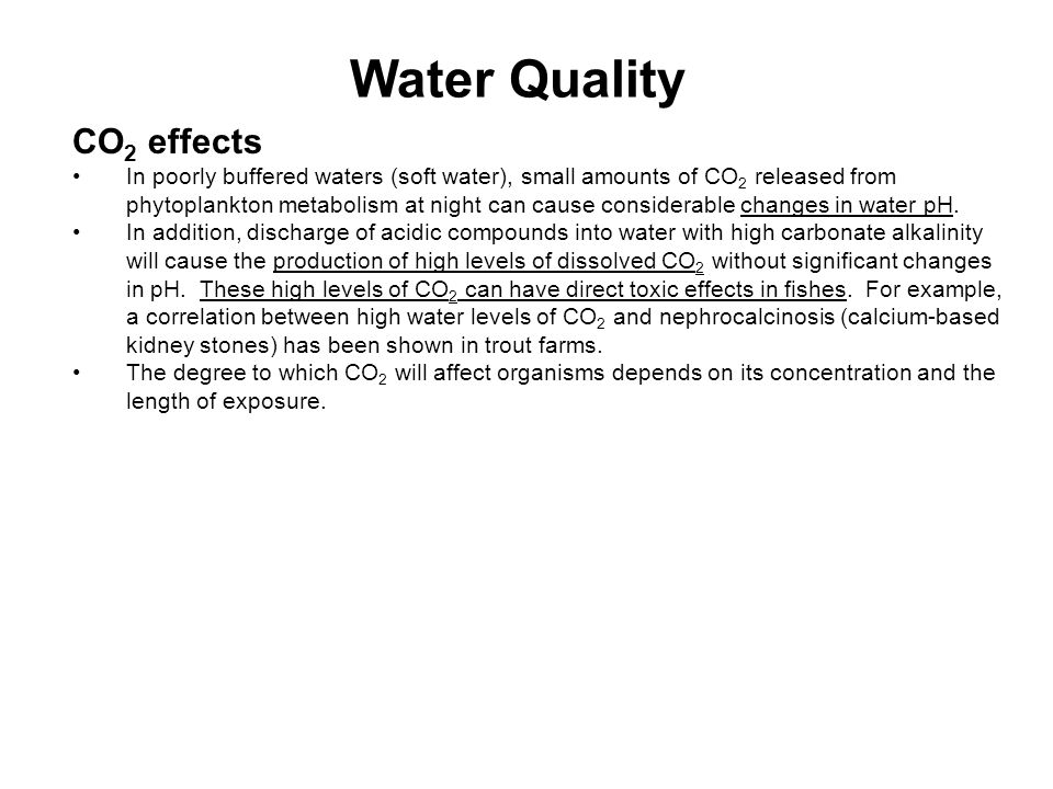 Water Quality CO2 effects