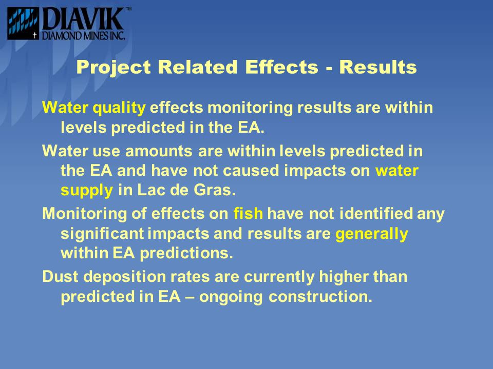 Project Related Effects - Results