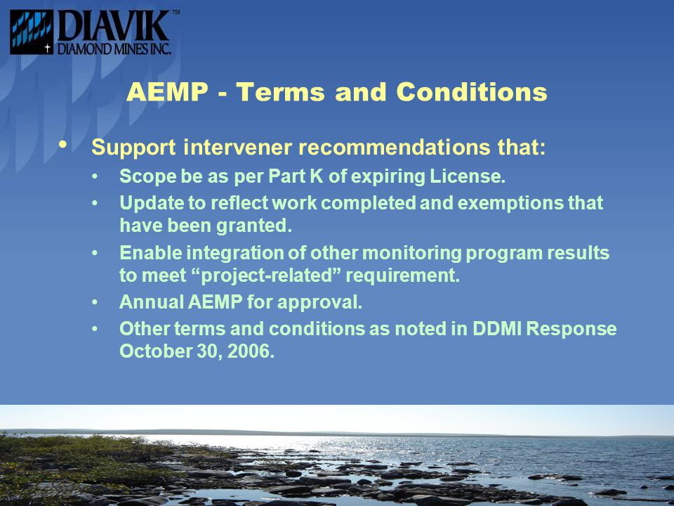 AEMP - Terms and Conditions