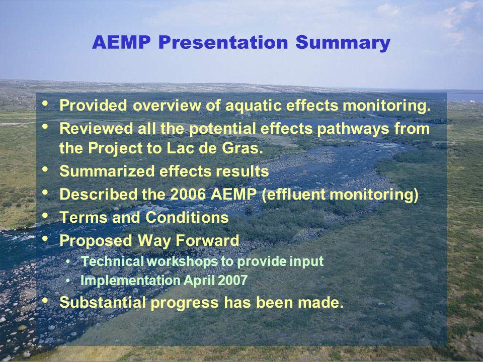 AEMP Presentation Summary
