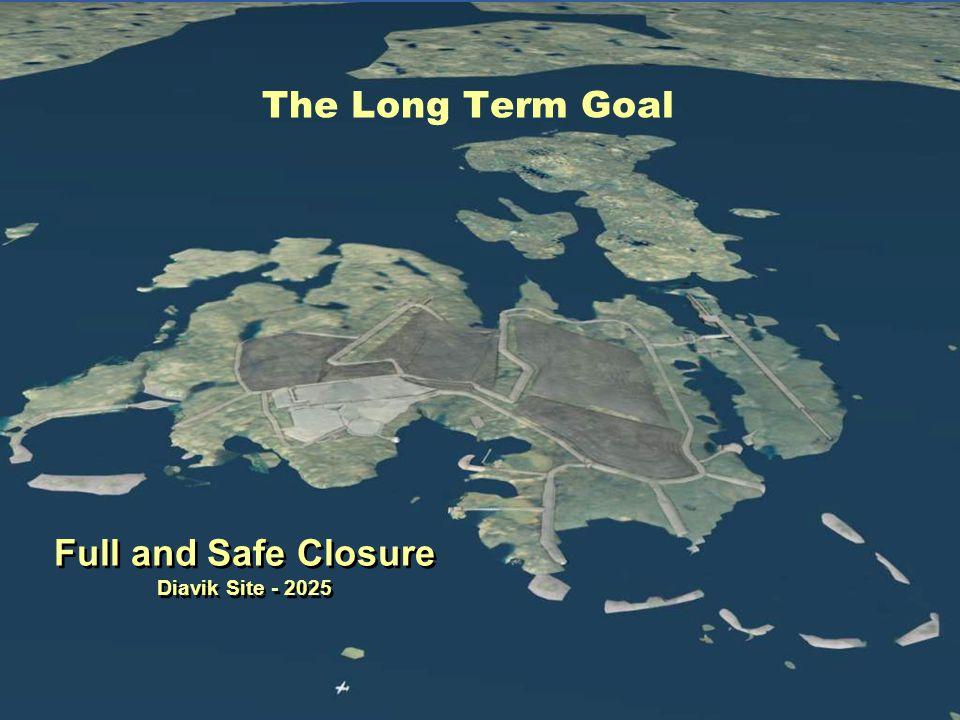 The Long Term Goal Full and Safe Closure Diavik Site - 2025