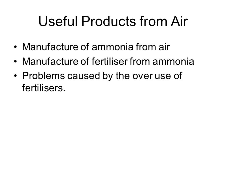 Useful Products from Air