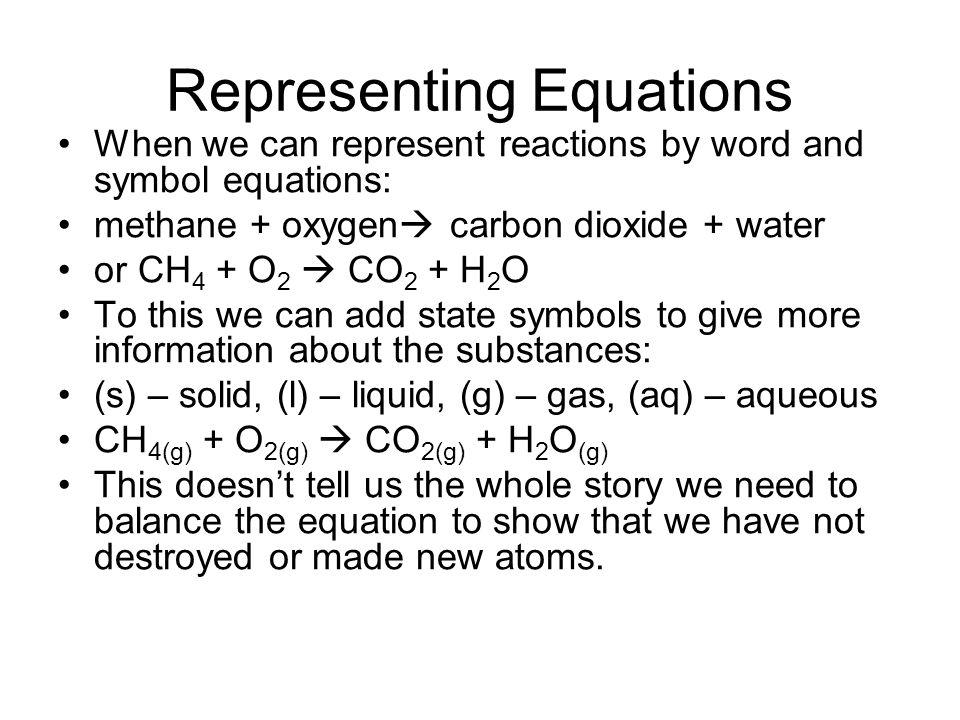 Representing Equations