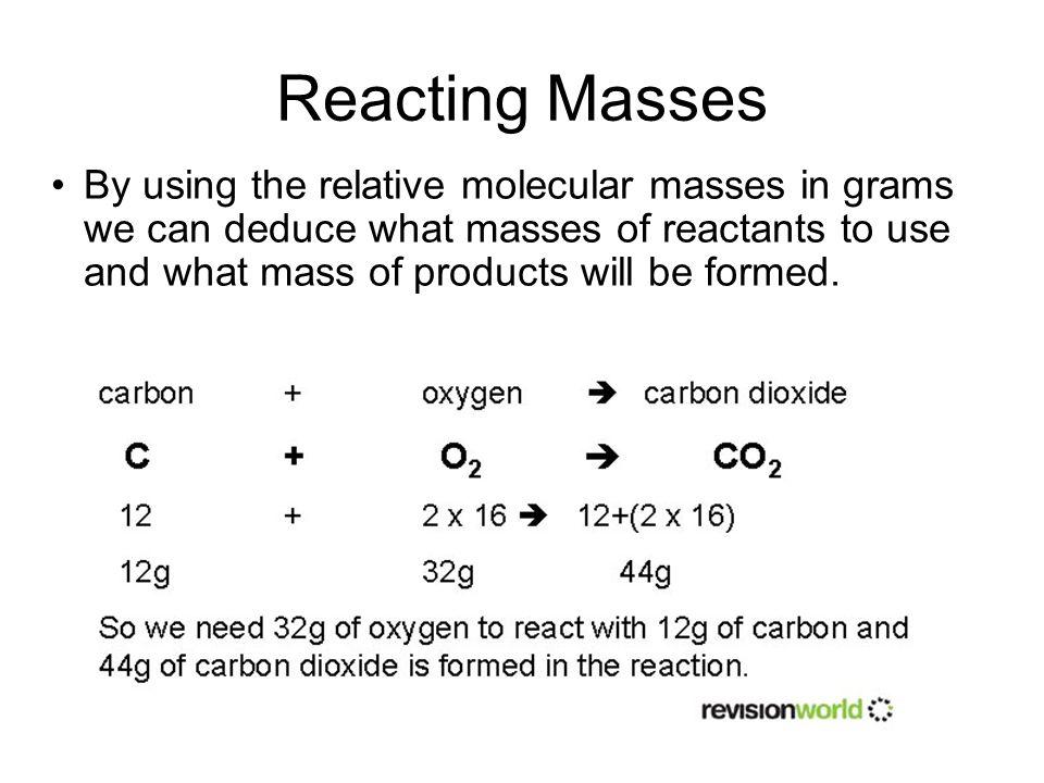 Reacting Masses
