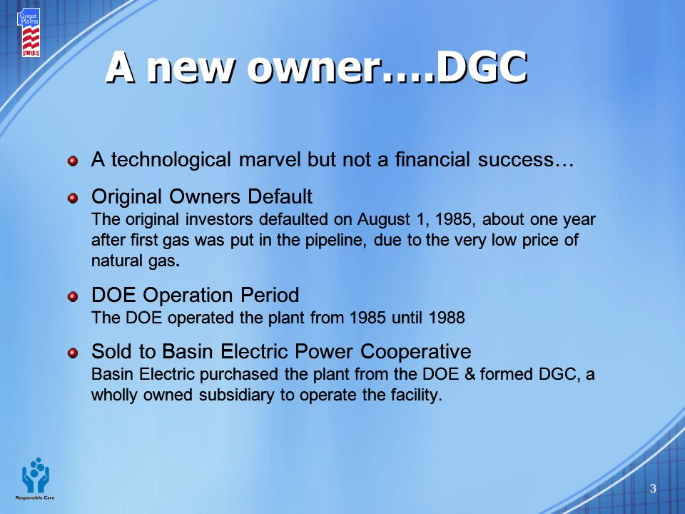 A new owner….DGC A technological marvel but not a financial success…