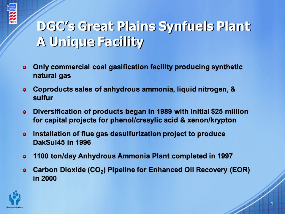 DGC's Great Plains Synfuels Plant A Unique Facility