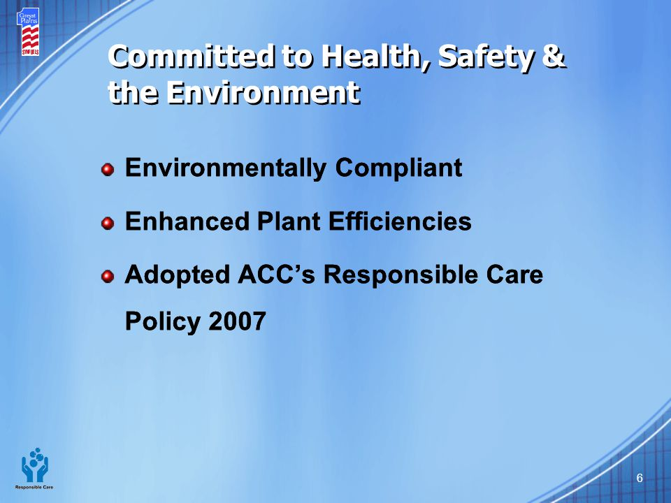 Committed to Health, Safety & the Environment