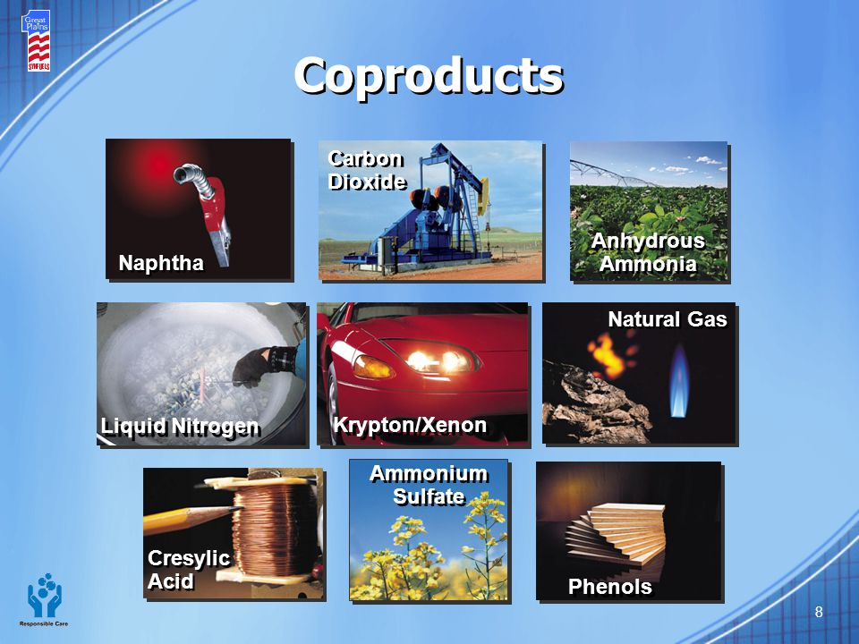 Coproducts Carbon Dioxide Anhydrous Ammonia Naphtha Natural Gas