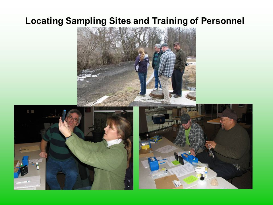 Locating Sampling Sites and Training of Personnel
