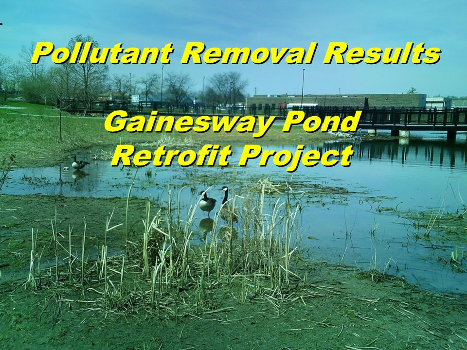 Pollutant Removal Results