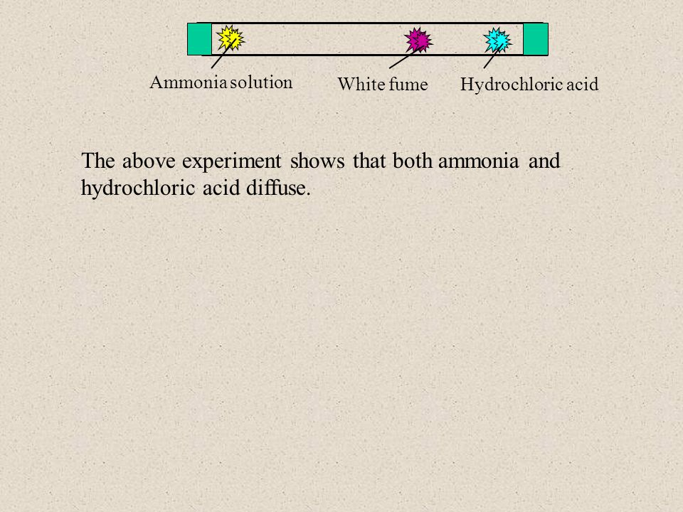 Ammonia solution White fume. Hydrochloric acid.
