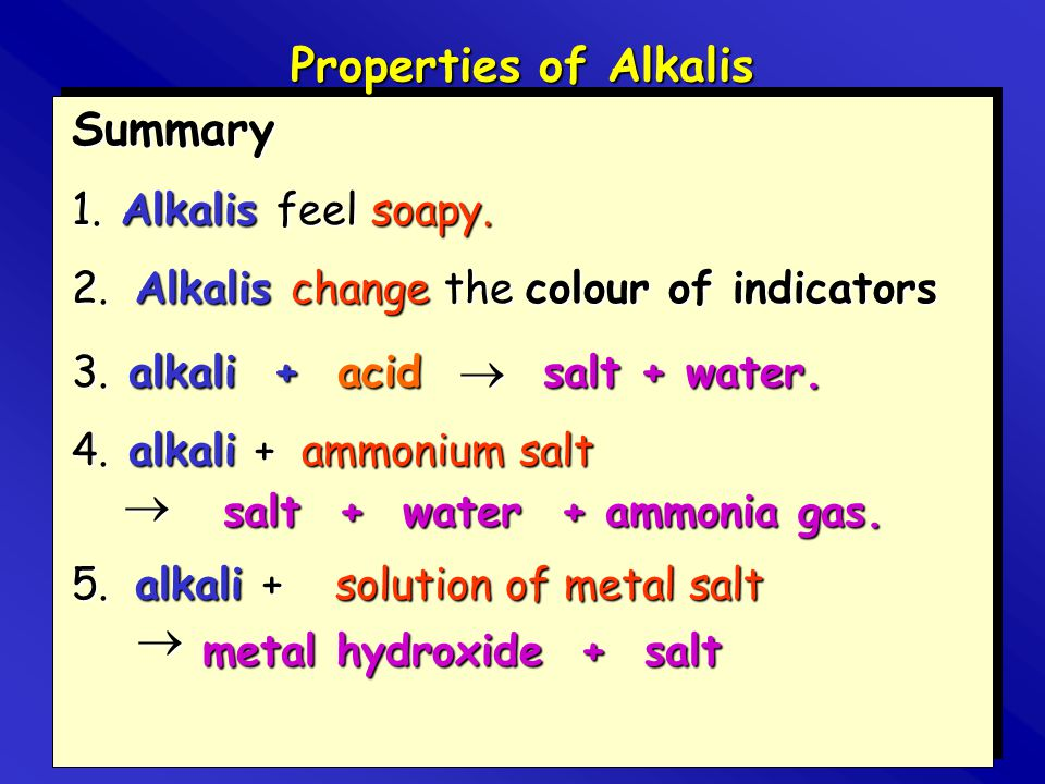 salt + water + ammonia gas.