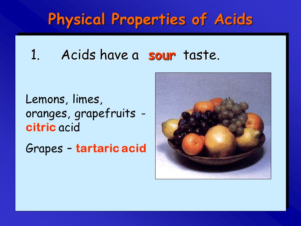 Physical Properties of Acids