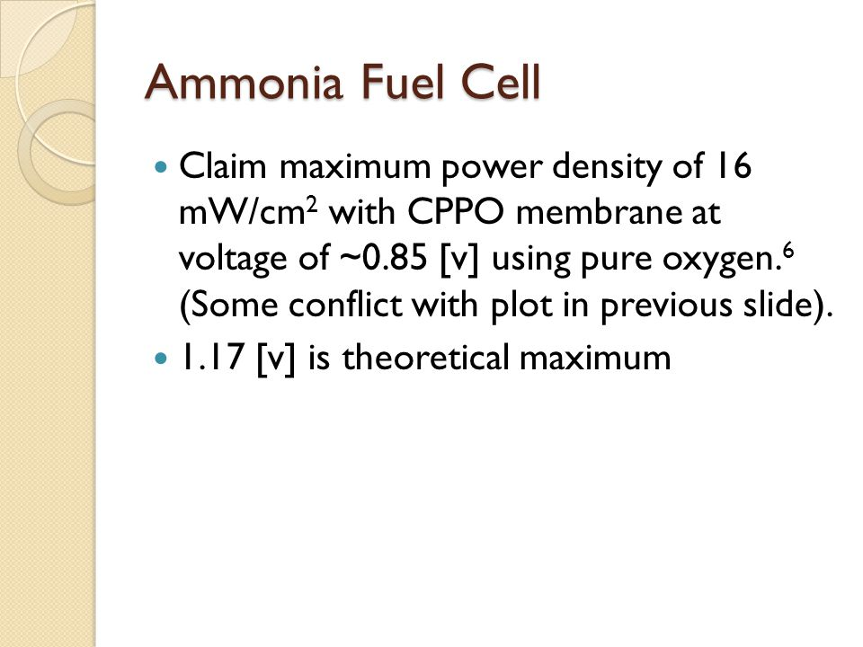 Ammonia Fuel Cell